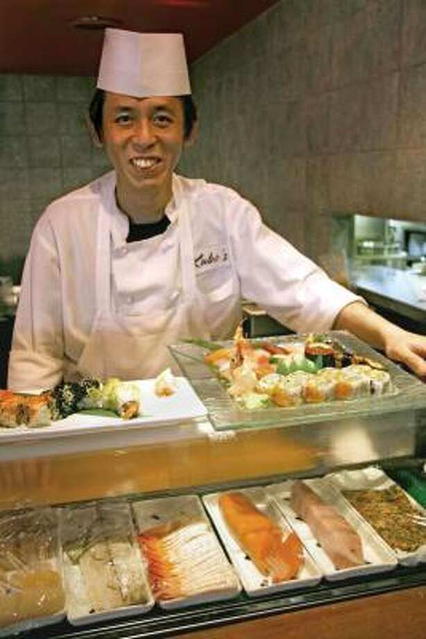 DINNER IS SERVED: Chef Kiyoka Ito has been a chef since he was 15 years old and worked for several Japanese restaurants. Photo: ALL