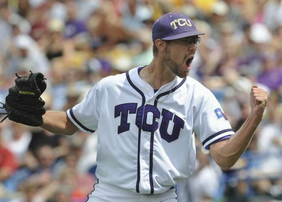 Matt Purke turned down major league money for a chance to pitch TCU to the College World Series. Photo: Dave Weaver, AP