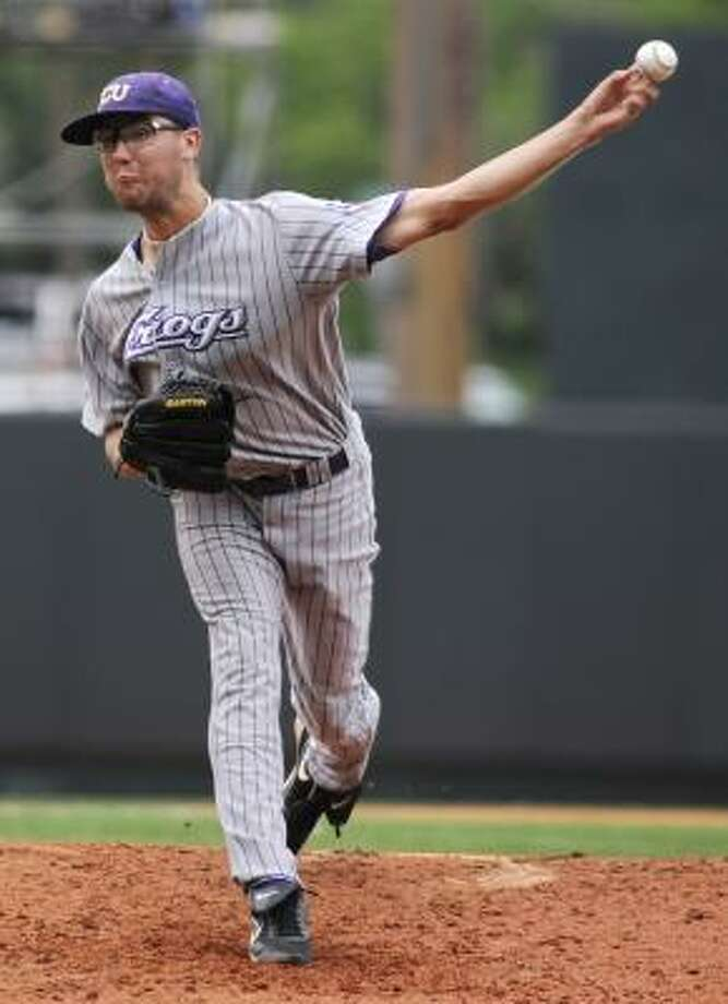 Klein product Matt Purke has become a key to TCU's starting rotation despite being a freshman. Photo: James Brosher, AP