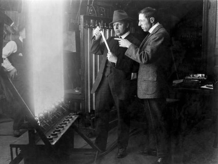 "G.W ""Billy"" Bitzer, left, and D.W Griffith are considered pioneers in cinematography and directing, and their stories are part of TCM's seven-part documentary series, Moguls & Movie Stars: A History of Hollywood. Photo: TCM"