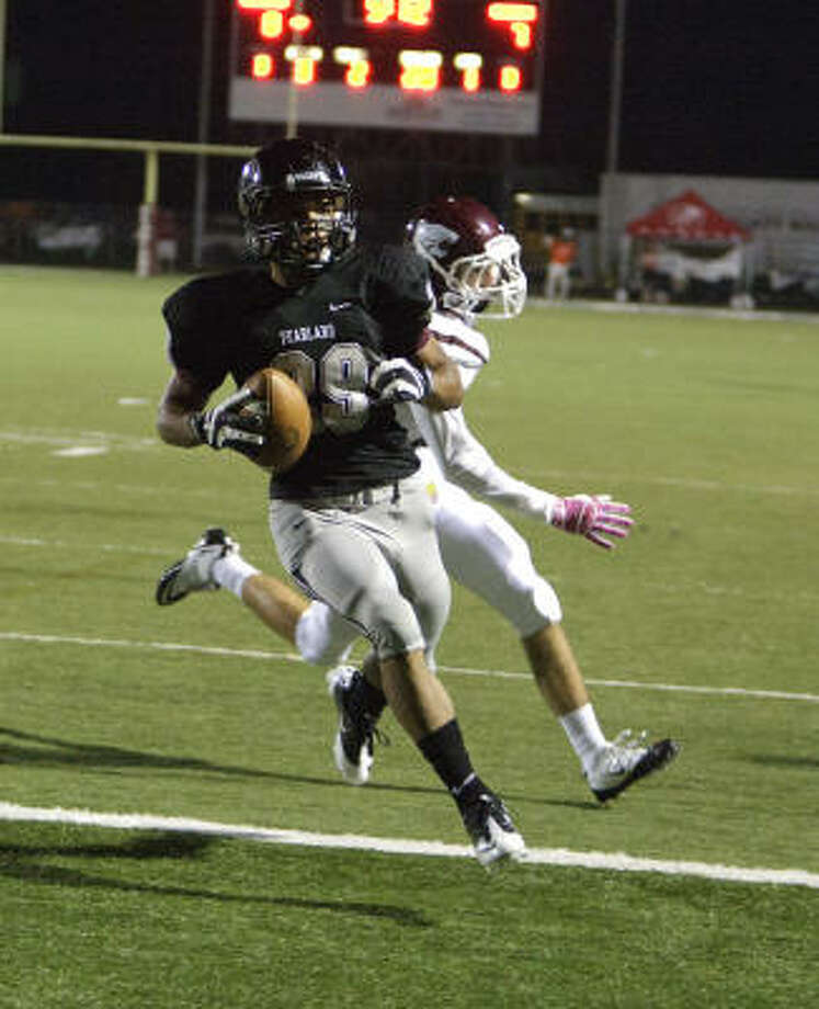 Following in a line of great running backs at Pearland, senior Dustin Garrison has rushed for more than 2,000 yards this season. Photo: Bob Levey, For The Chronicle
