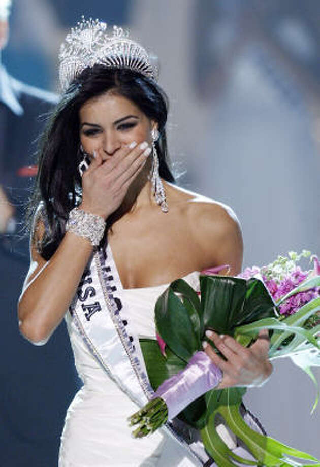 Miss USA Rima Fakih has taken heat for competing in beauty pageants and wearing revealing clothes. Photo: Isaac Brekken, Associated Press