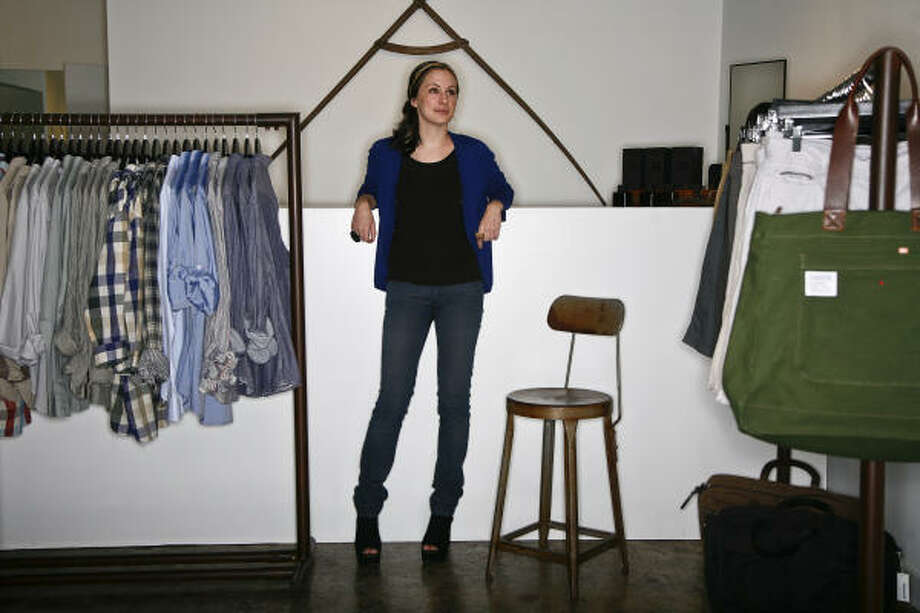 At Mortar, co-owned by Iris Siff, most of the lines are exclusives from emerging designers. Photo: Michael Paulsen :, Chronicle