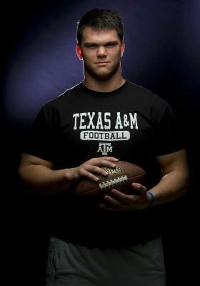 Texas A&M starting freshmen offensive tackles Jake Matthews (pictured) and Luke Joeckel have played like seasoned veterans of late. Photo: Johnny Hanson, Chronicle
