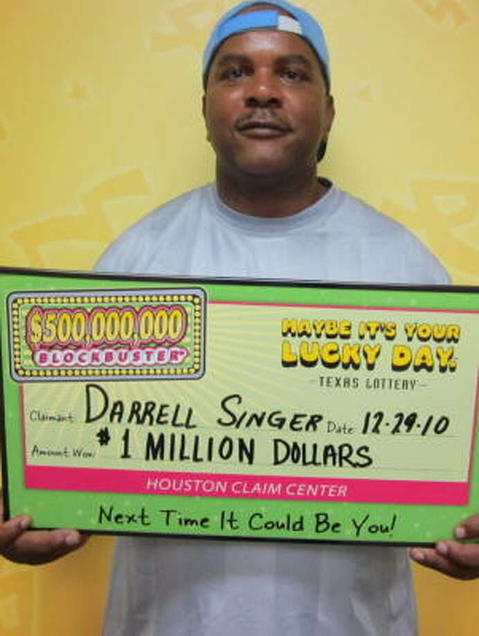 Darrell Singer bought his winning ticket at a Texaco gas station in Texas City. Photo: Texas Lottery Commission