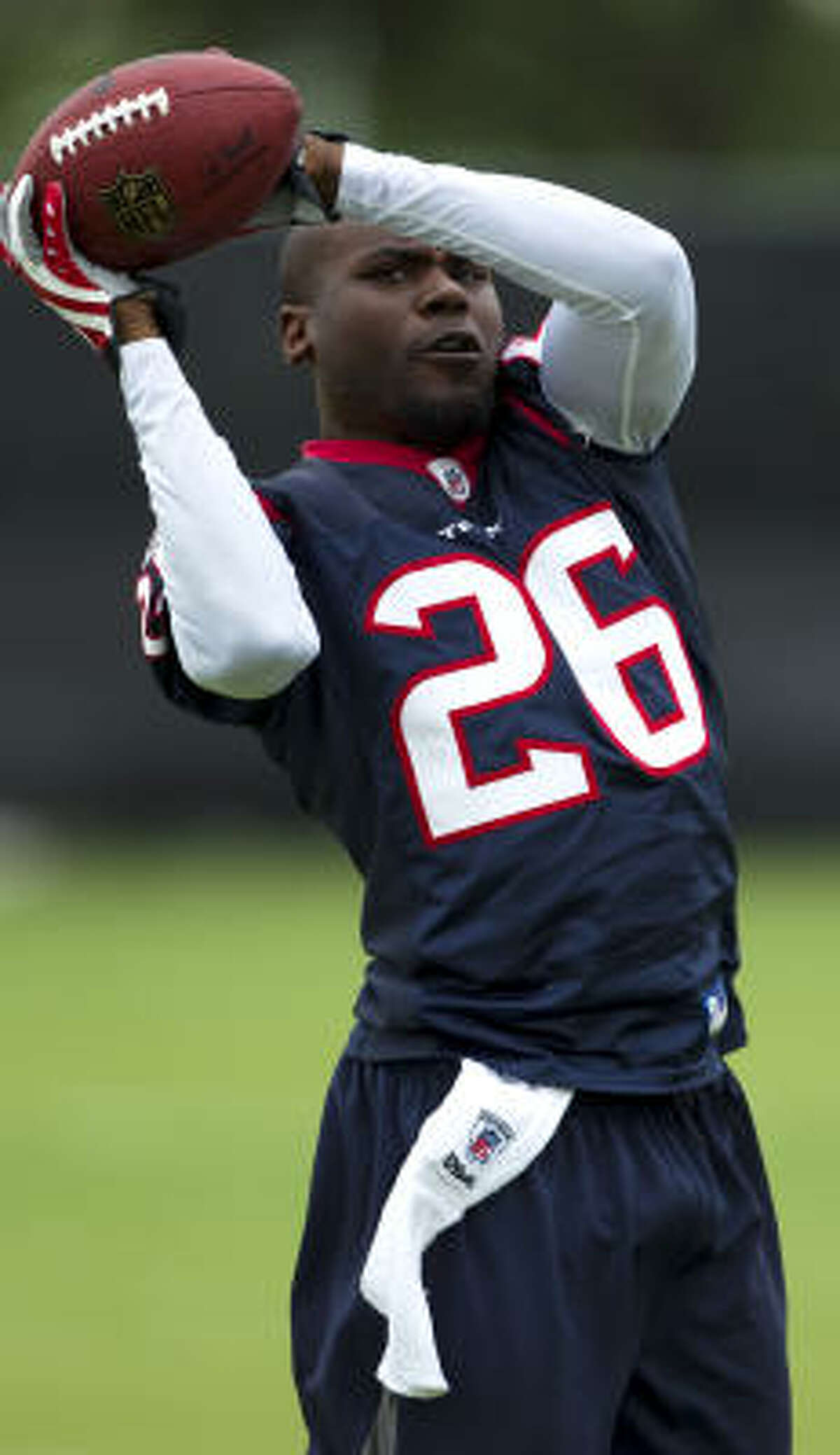 Texans safety Eugene Wilson, an eight-year veteran, won two Super Bowl rings with New England, including one in Reliant Stadium in 2004.