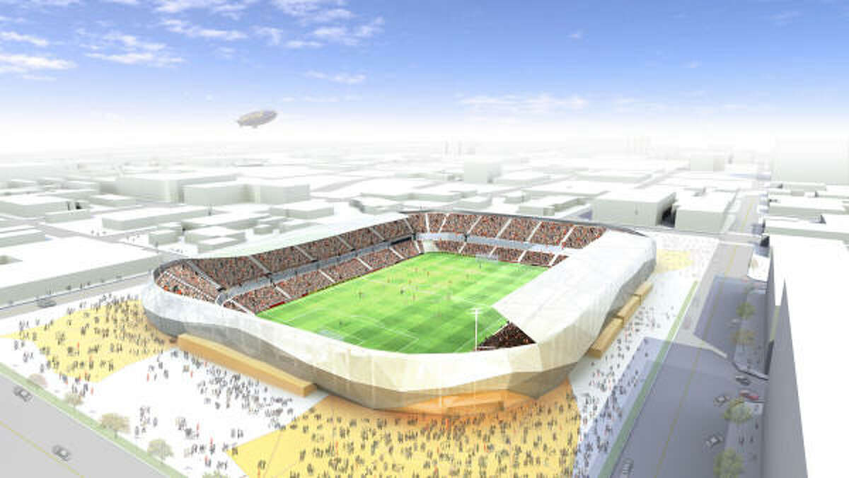 An artist's rendering of the new Dynamo stadium.