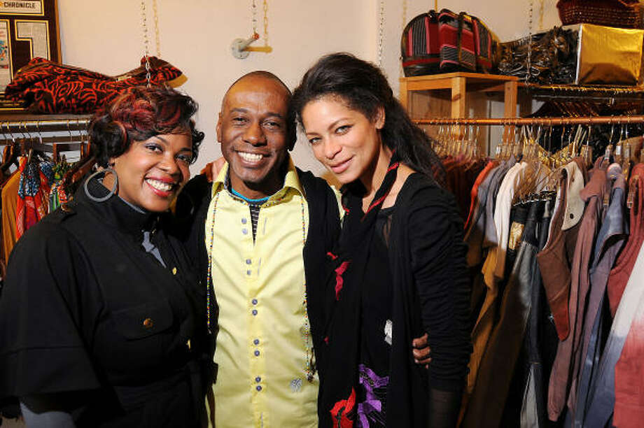 Boutique owner Jackie Adams, left, designer Selven O'Keef Jarmon and Zoe Jackson-Jarra party at the Melodrama Boutique. Photo: Dave Rossman, For The Chronicle