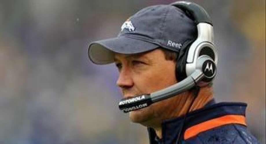 Rick Dennison spent 24 years with the Broncos, including the last 15 as an assistant coach. Photo: AP