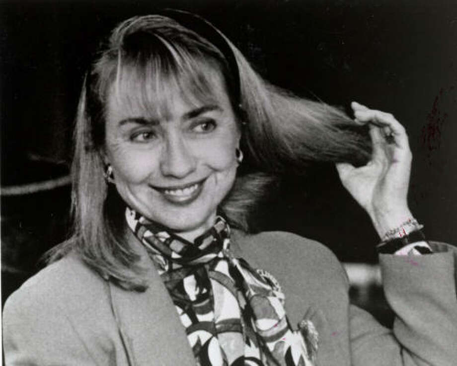 In 1992, Clinton wasn't afraid to let her hair down during her husband's presidential campaign. Photo: James A. Parcell, Washington Post