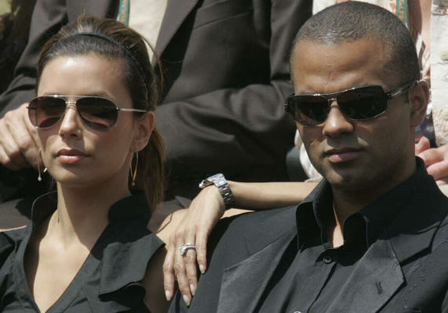 There is a seven-year age difference between Eva Longoria and Tony Parker, seen here in 2009. Photo: Michel Euler, AP
