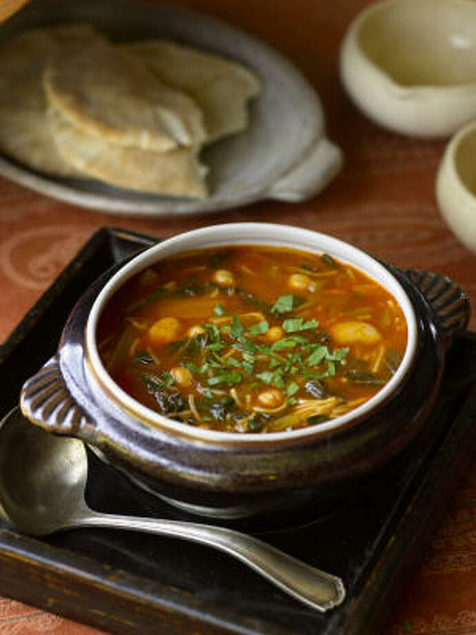 Hlelem (Tunisian Vegetable and Bean Soup) Photo: Lebhar-Friedman