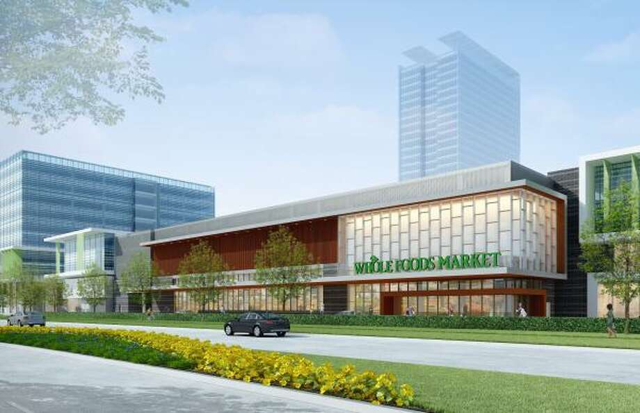 Construction on the Whole Foods Market, shown in this rendering, is scheduled to start by next summer, with the opening expected to be in late 2012 or early 2013. Photo: Wulfe & Co.