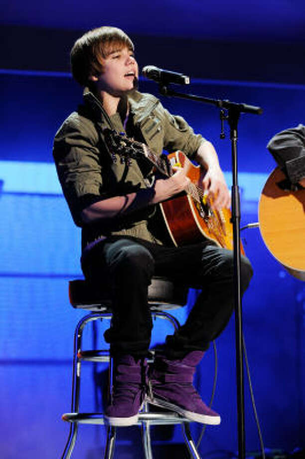 Bieber says the biggest crowd he's played for was 20,000. Around 70,000 are expected for his show here March 21. Photo: LARRY BUSACCA, GETTY IMAGES