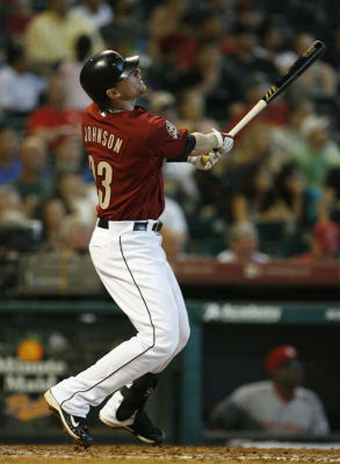 Third baseman Chris Johnson has taken advantage of his opportunity to play during the second half of the season. Photo: Julio Cortez, Chronicle