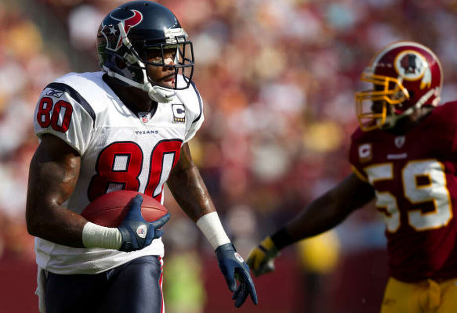 Andre Johnson's dominating performance against the Redskins earned him the honor for the second time in his career. Photo: Smiley N. Pool, Chronicle