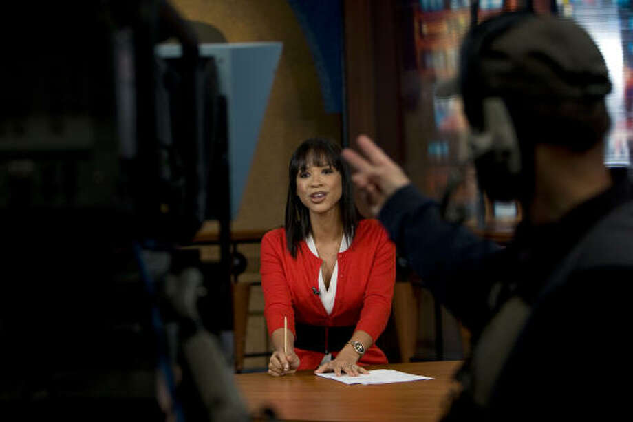 The new format is a reversal from the station's advertising campaign focusing on anchor Mia Gradney, shown in 2009. Photo: Johnny Hanson, Chronicle