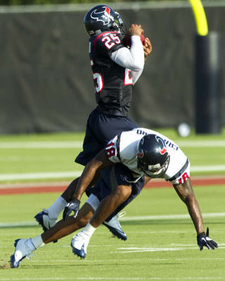 Texans cornerback Kareem Jackson missed the first preseason game because of a death in his family. Photo: Brett Coomer, Chronicle
