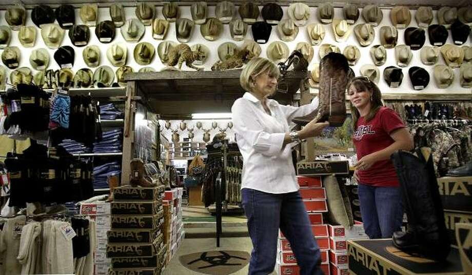 Cowboy Hats Adorn The Walls At Cotulla Store Houston