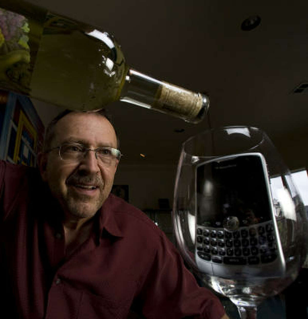 """Russ Kane, pictured, is a writer, blogger and dedicated Texas oenophile who collaborated with Messina Hof impresario Paul Bonarrigo on the """"Judgment of Bryan, Texas,"""" a tasting that was conducted """"live"""" via Twitter."""