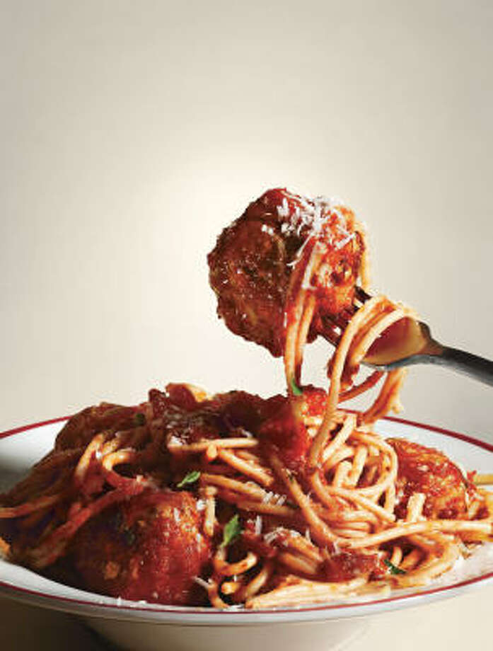 Spaghetti and Meatballs All'Amatriciana Photo: CRAIG CUTLER :, BON APPETIT