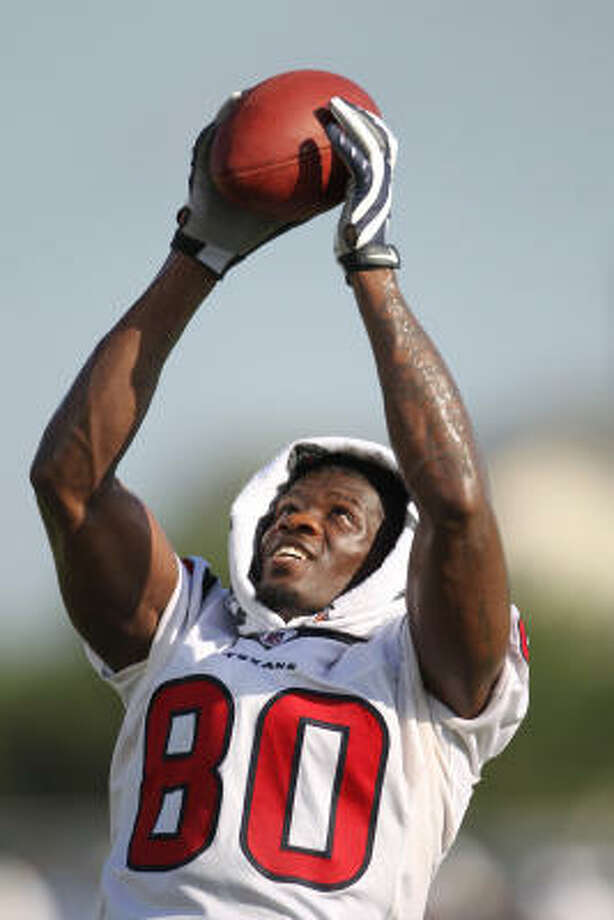 Texans receiver Andre Johnson caught 101 passes for 1569 yards and nine touchdowns last season. Photo: Karen Warren, Chronicle