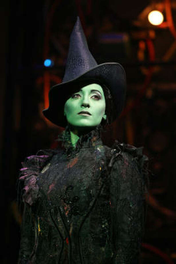 Donna Vivino stars as misunderstood Elphaba in the national tour of Wicked, opening Wednesday at Hobby Center. Photo: Joan Marcus