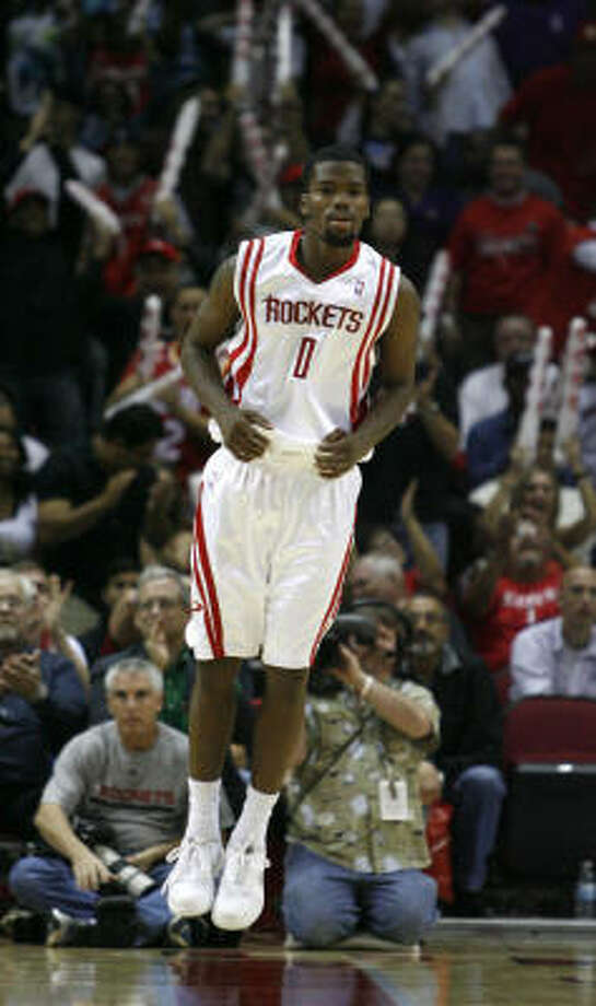 Rockets guard Aaron Brooks had a career-high 33 points against the Lakers in November. Photo: Karen Warren, Chronicle
