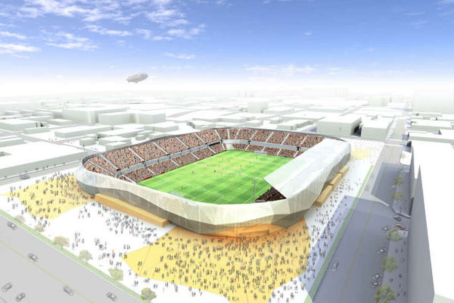 While there are no blueprints as yet for the Dynamo's new stadium, the plan is to have seating for 21,000. Photo: Houston Dynamo