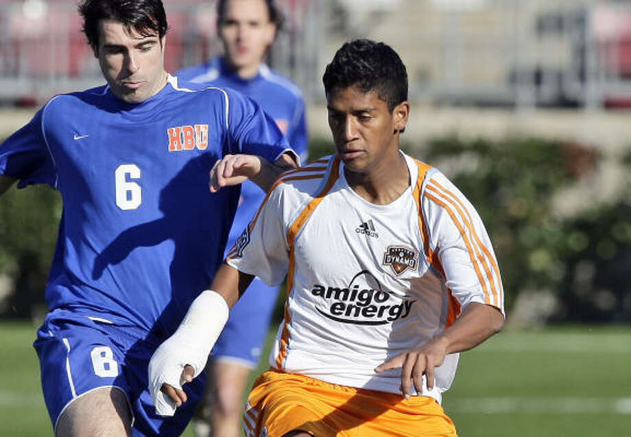 Francisco Navas, the Dynamo's newest player, left his family in Colombia to chase his dream of playing professional soccer. Photo: Bob Levey, For The Chronicle