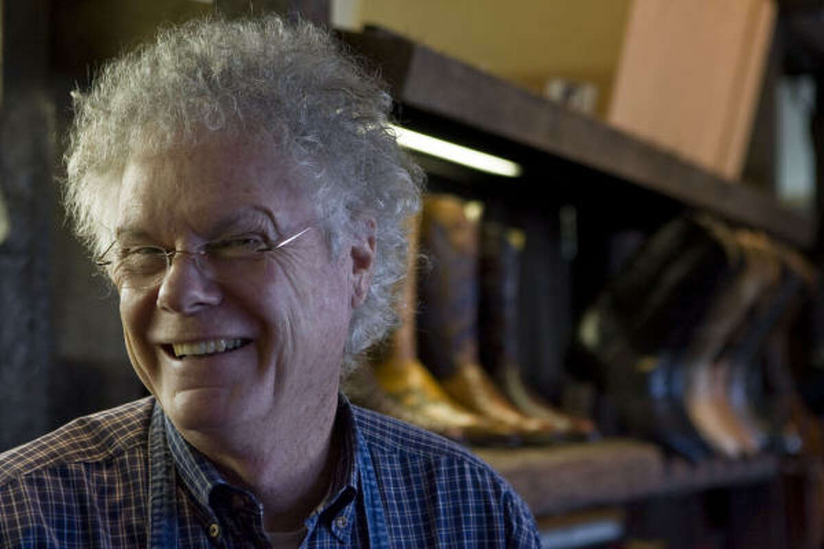 "David Wheeler is the proprietor of the Wheeler Boot Co., which has been in the boot business for five decades. Wheeler used eight different leathers to create ""Houston Boots."""