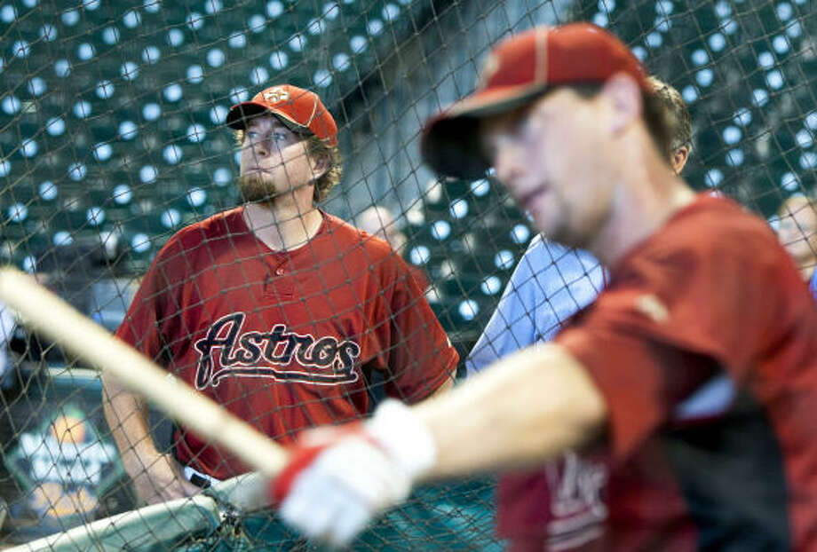 The Astros' production at the plate has improved since Jeff Bagwell became hitting coach. Photo: Brett Coomer, Chronicle