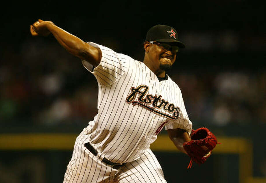 Former Astros closer Jose Valverde signed with Detroit on Thursday. Photo: Michael Paulsen, Chronicle