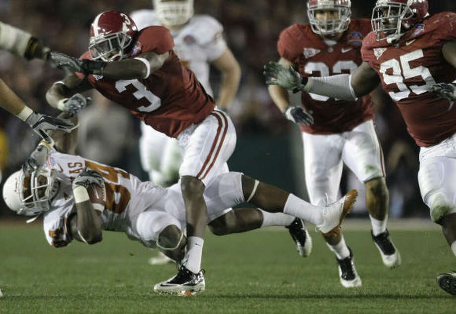Kareem Jackson helped lead the Crimson Tide to the BCS title this season. Photo: Brett Coomer, Chronicle