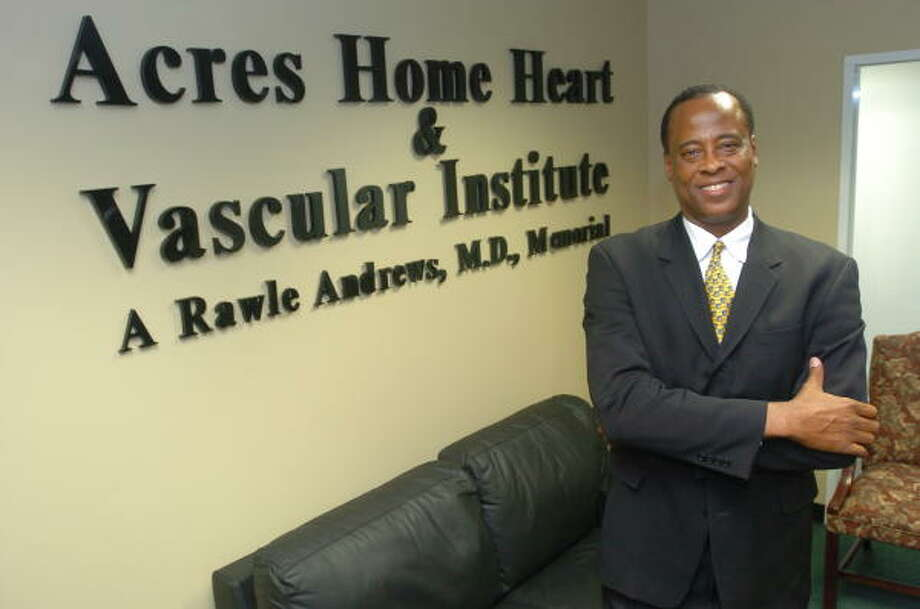 Dr. Conrad Murray opened the Acres Homes Cardiovascular Center in his late father's honor in 2006. Photo: Thomas Nguyen, For The Chronicle