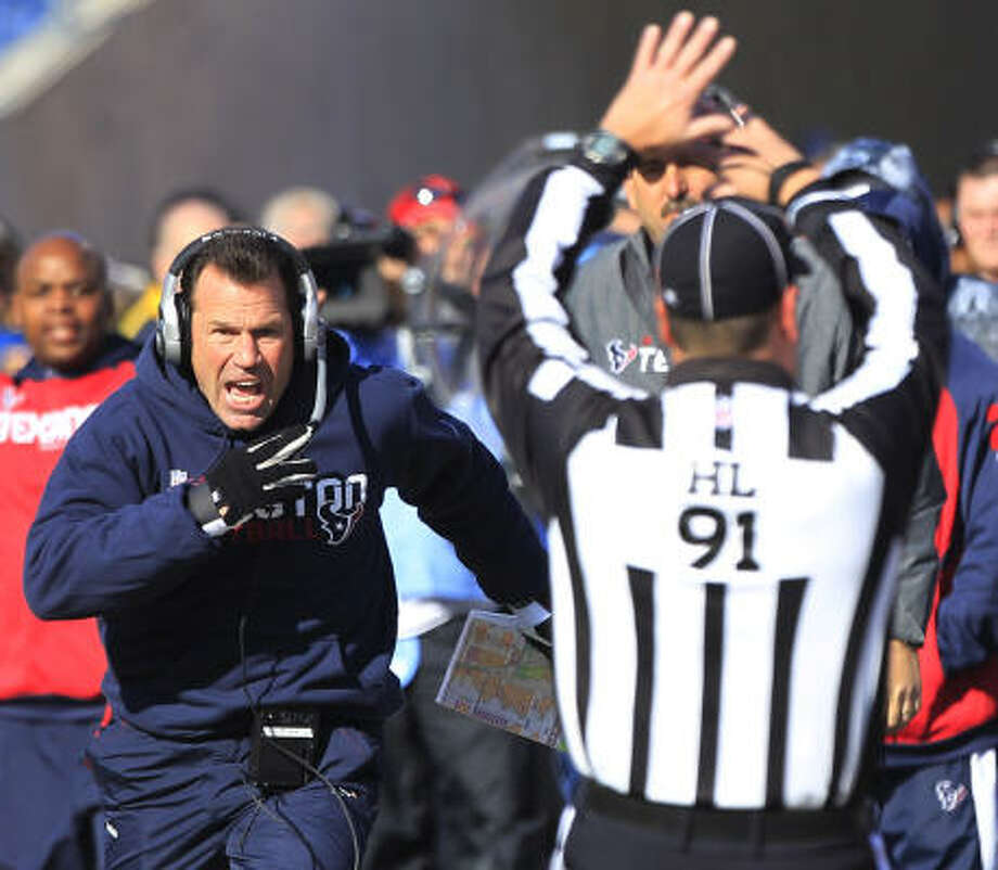Texans coach Gary Kubiak declined to comment on speculation that he's going to be fired. Photo: Brett Coomer, Chronicle