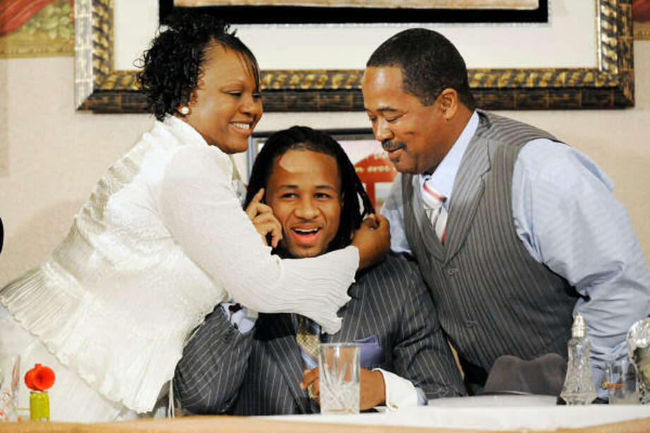 Earl Thomas entered the draft in part to help his family after their home was destroyed during Hurricane Rita. Photo: Valentino Mauricio, Beaumont Enterprise