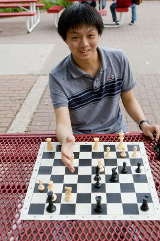 Jeff Feng, Bellaire High School Star and chess maven, recently scored a perfect 36 on the ACT college admissions test.  Photo by R. Clayton McKee Photo: R. Clayton McKee, For The Chronicle