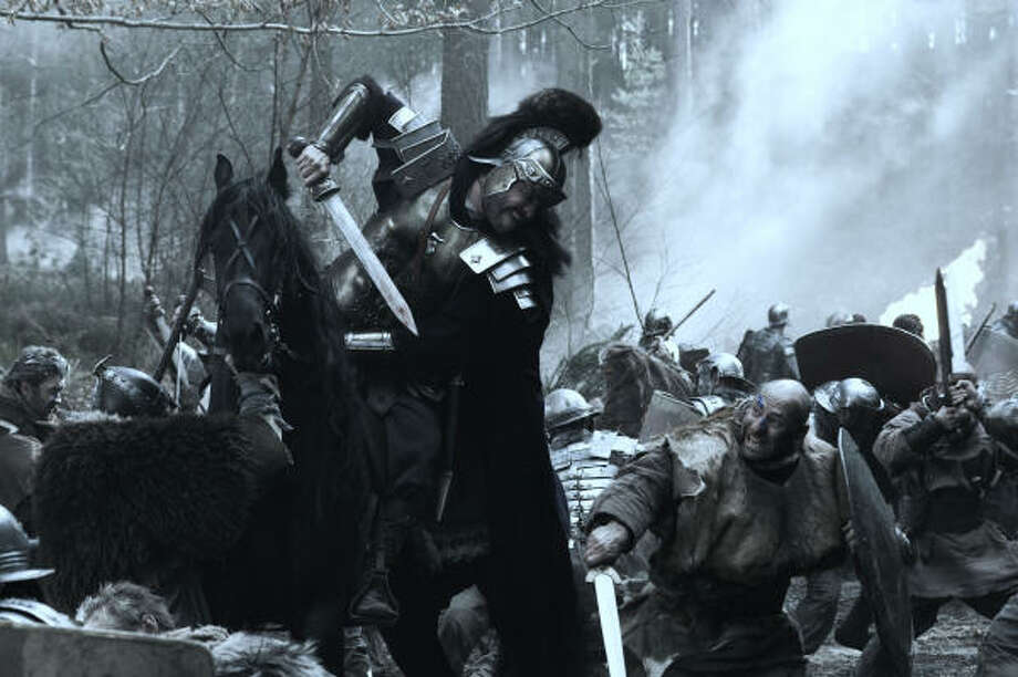 General Titus Virilus (Dominic West) and his troops are outnumbered in Centurion. Photo: MAGNET RELEASING
