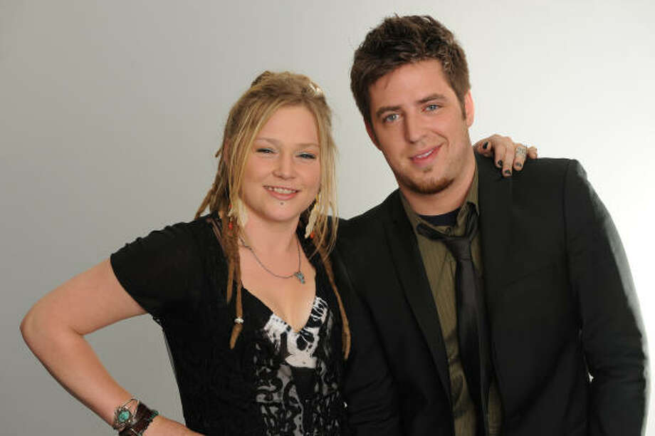 The Final two! Crystal Bowersox and Lee DeWyze  advance to the American Idol finals. Photo: Mark Davis, PictureGroup