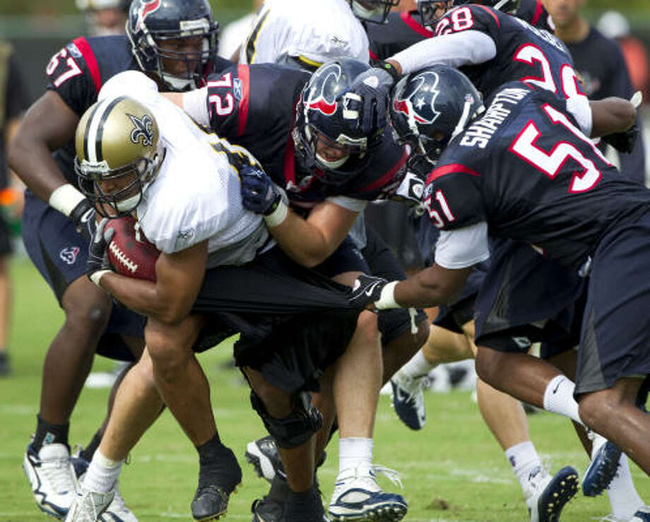 The Texans struggled in a 38-20 loss to the Saints on Saturday. Photo: Brett Coomer, Chronicle