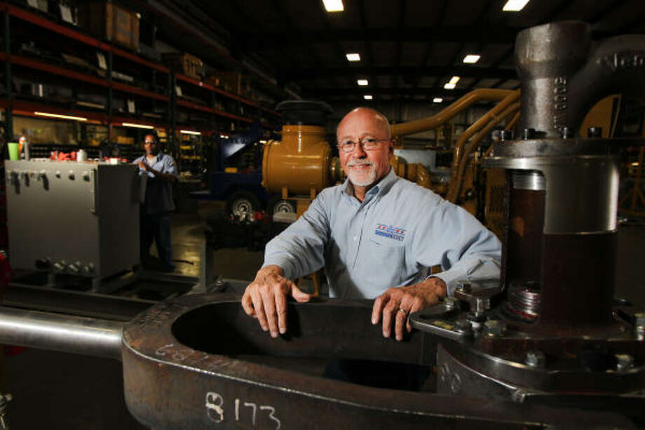 Venturetech President & CEO Larry Keast, who began his hydraulics business in his garage 30 years ago, makes a point of giving ex-convicts another chance. Photo: James Nielsen, Chronicle