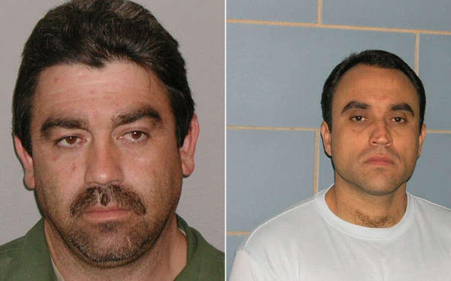 Carlos Luis Guerra, left, of Houston and Arturo Carlos Saenz-Olea of Hidalgo escaped on Monday. Photo: Beaumont Enterprise
