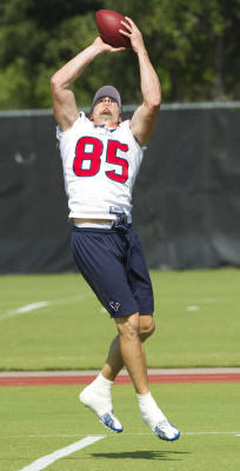 Joel Dreessen worked his way up from the bottom of the depth chart during his first two seasons with the Texans. Photo: Brett Coomer, Chronicle