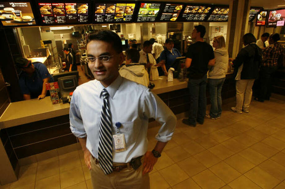 Dr. Sanjiv Harpavat says the menu board at the Texas Children's Hospital McDonald's will take some time for customers to adjust to. Harpavat, a pediatrician, supported revamping the menu board as a step toward addressing obesity. Photo: Julio Cortez :, Chronicle