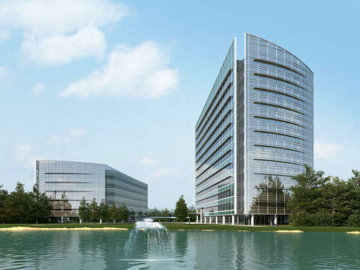 Rendering: Despite the uncertain economy and slower office market, the developer is confident about Research Forest Lakeside because of its location.