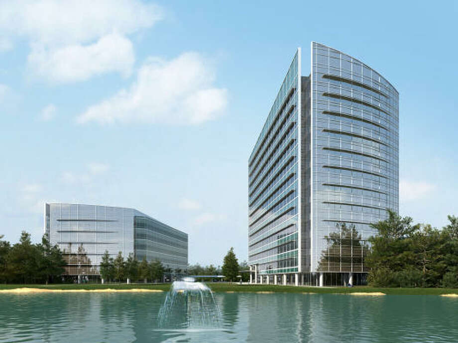Rendering: Despite the uncertain economy and slower office market, the developer is confident about Research Forest Lakeside because of its location. Photo: Ziegler Cooper Architects