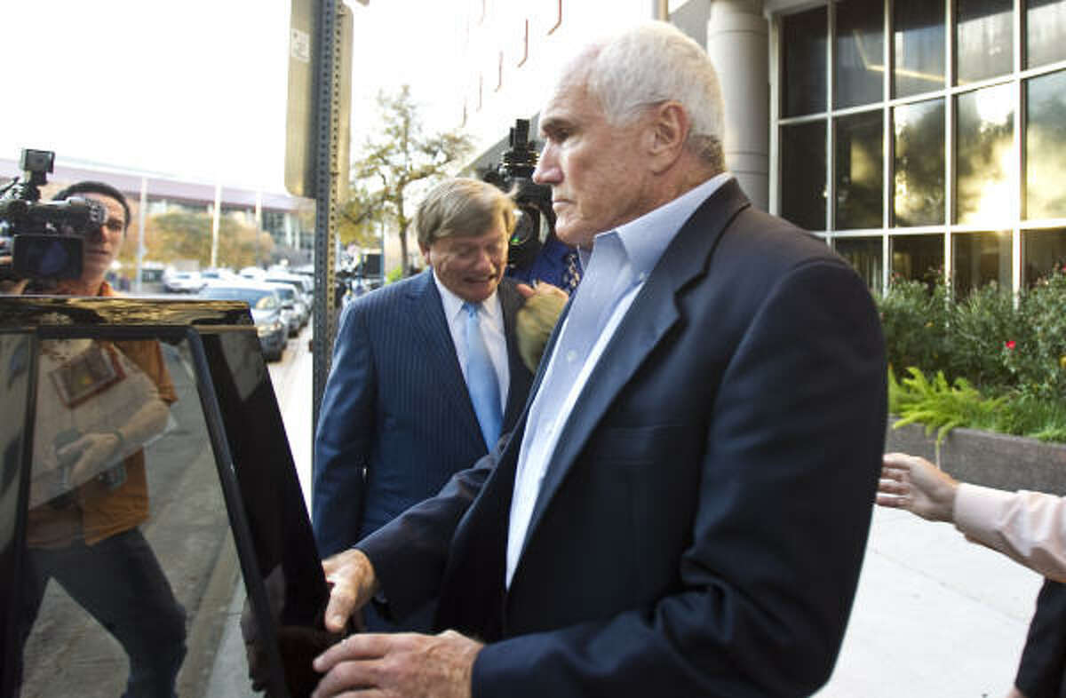 Precinct 4 Commissioner Jerry Eversole had said two years ago that he expected to be indicted. After Tuesday's court appearance, though, he had nothing to say to the media.