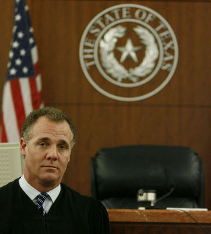 Judge Kevin Fine, shown Thursday, was elected to the 177th District Court in 2008. Photo: Karen Warren, Chronicle