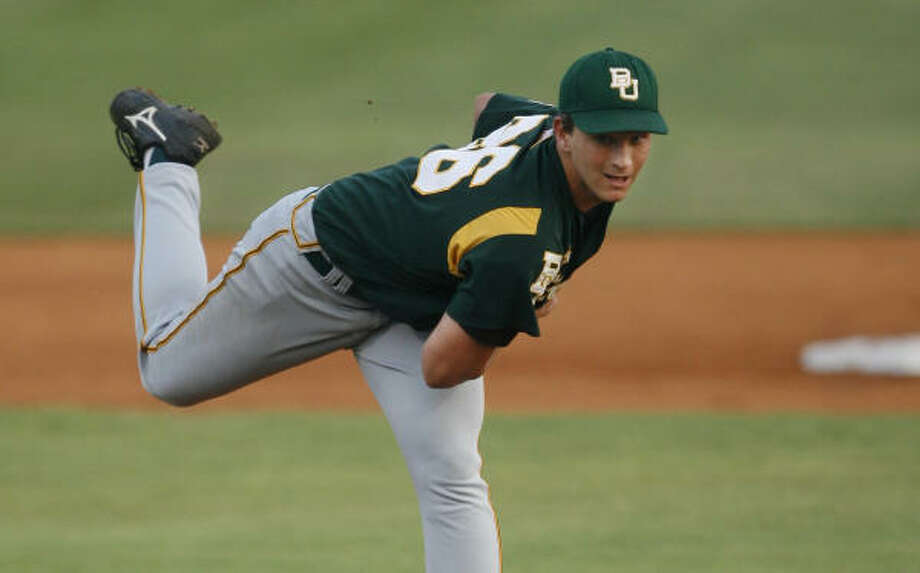 Baylor senior starter Willie Kempf allowed a lone run over 5 1/3 innings of the series-ending win. Photo: Chronicle File Photo